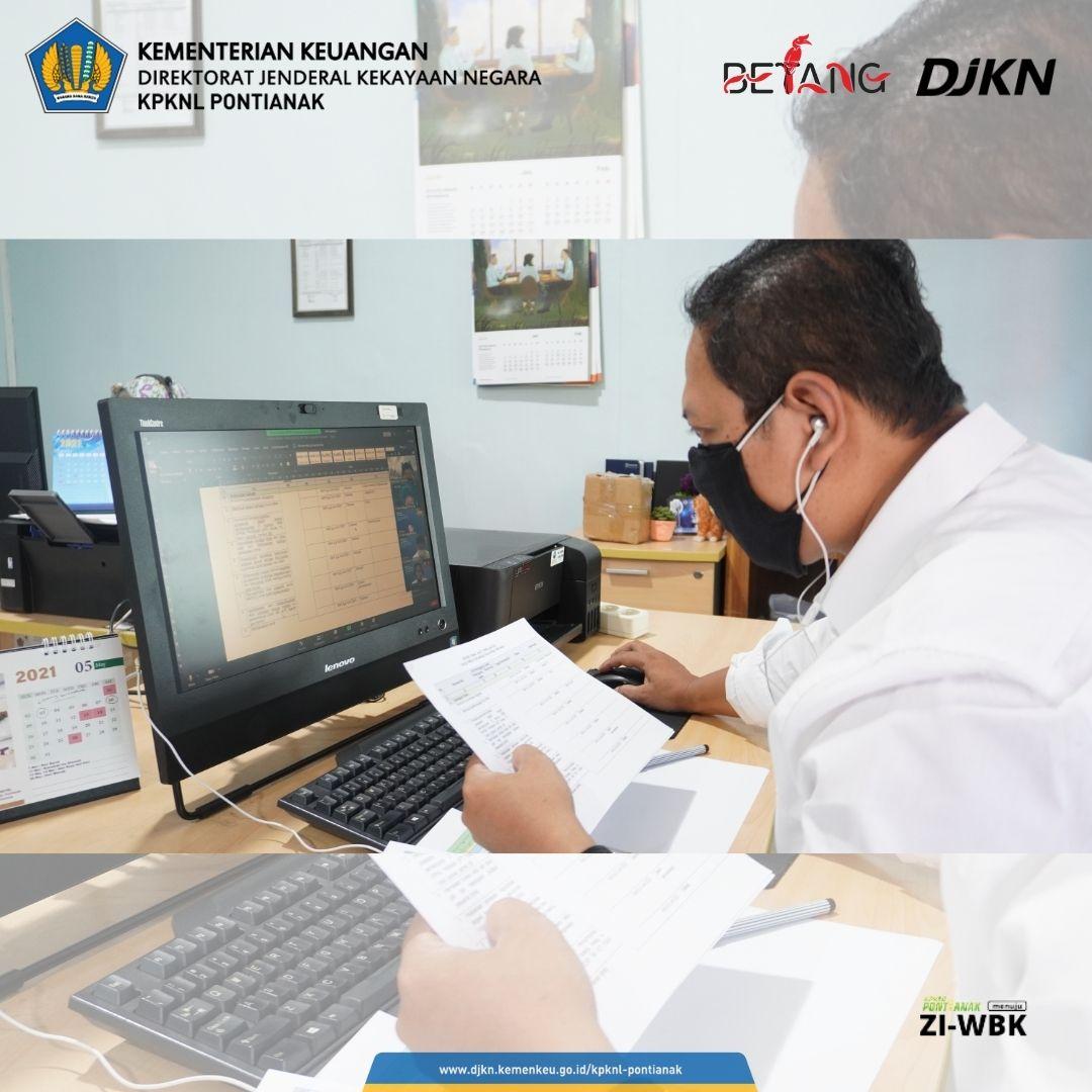KPKNL Pontianak Laksanakan DKO Triwulan II, Sosialisasi SE-10/MK.1/2021, Hingga Monev ZI-WBK Secara Daring