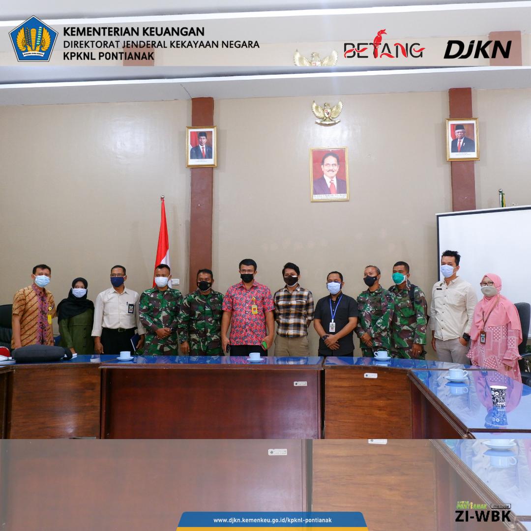 Sinergi DJKN Kanwil Kalbar, Zidam XII Tanjungpura/Kodim Singkawang dan Kantah Singkawang Terkait Percepatan Sertipikasi Tanah BMN
