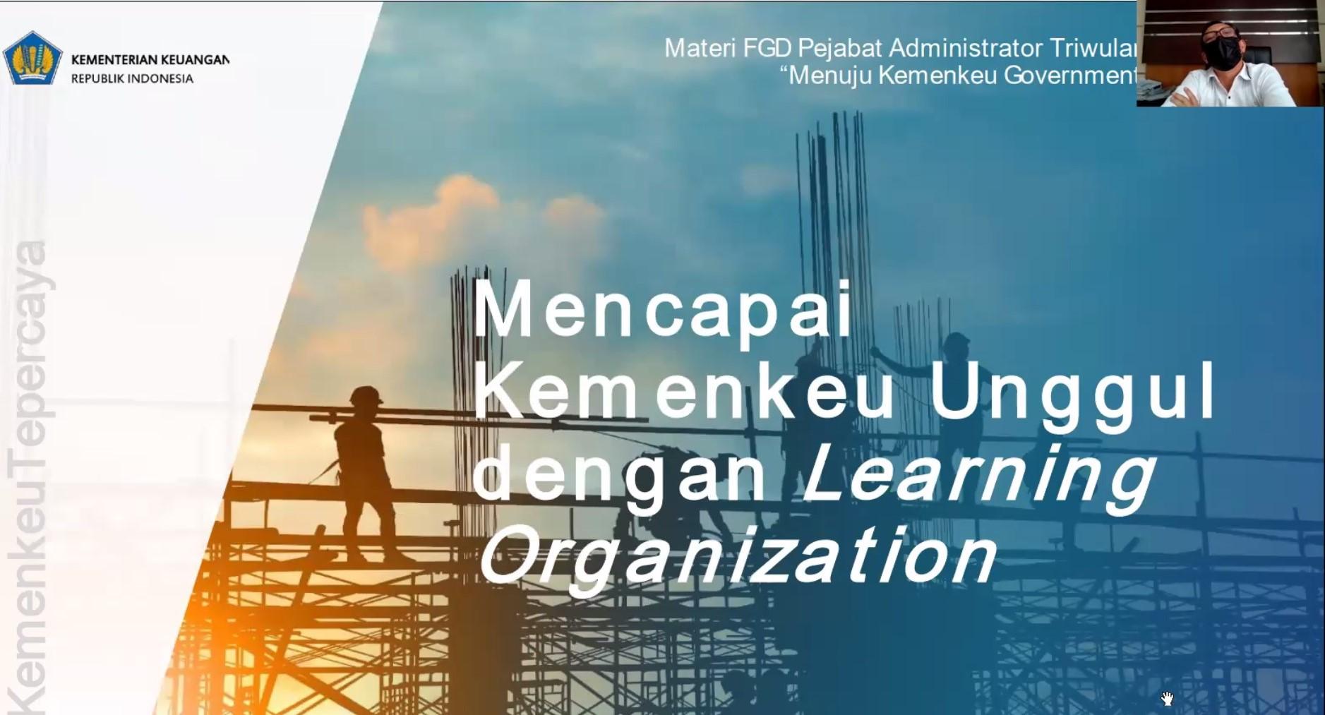 Bersiap menuju Kemenkeu Government 4.0, KPKNL Tangerang II gelar FGD Triwulan III tahun 2021