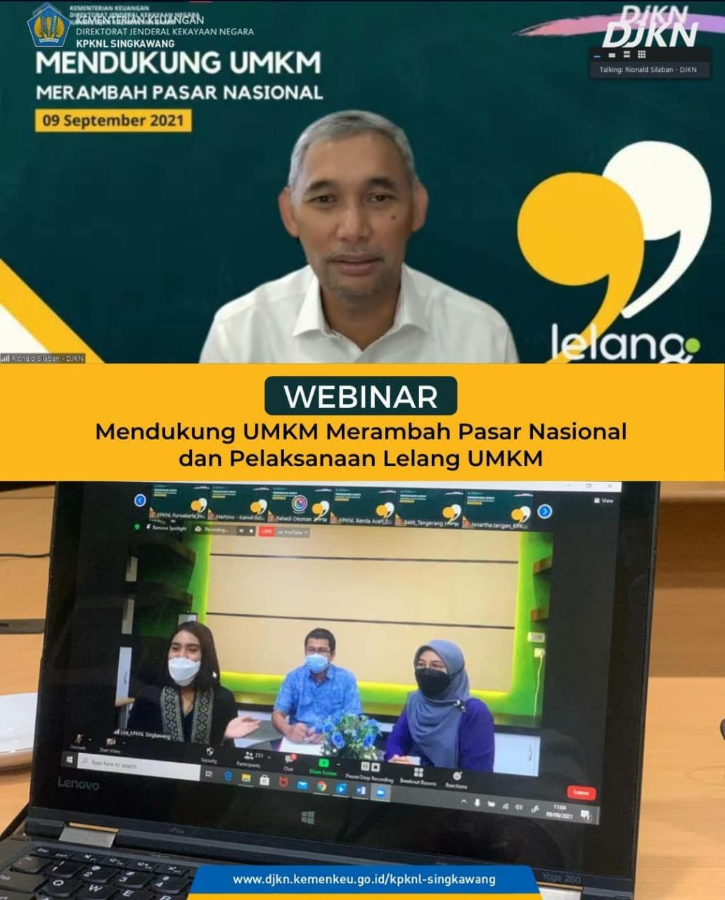 Dukung UMKM, KPKNL Singkawang dan DJKN Kalbar Laksanakan Webinar dan Live Lelang