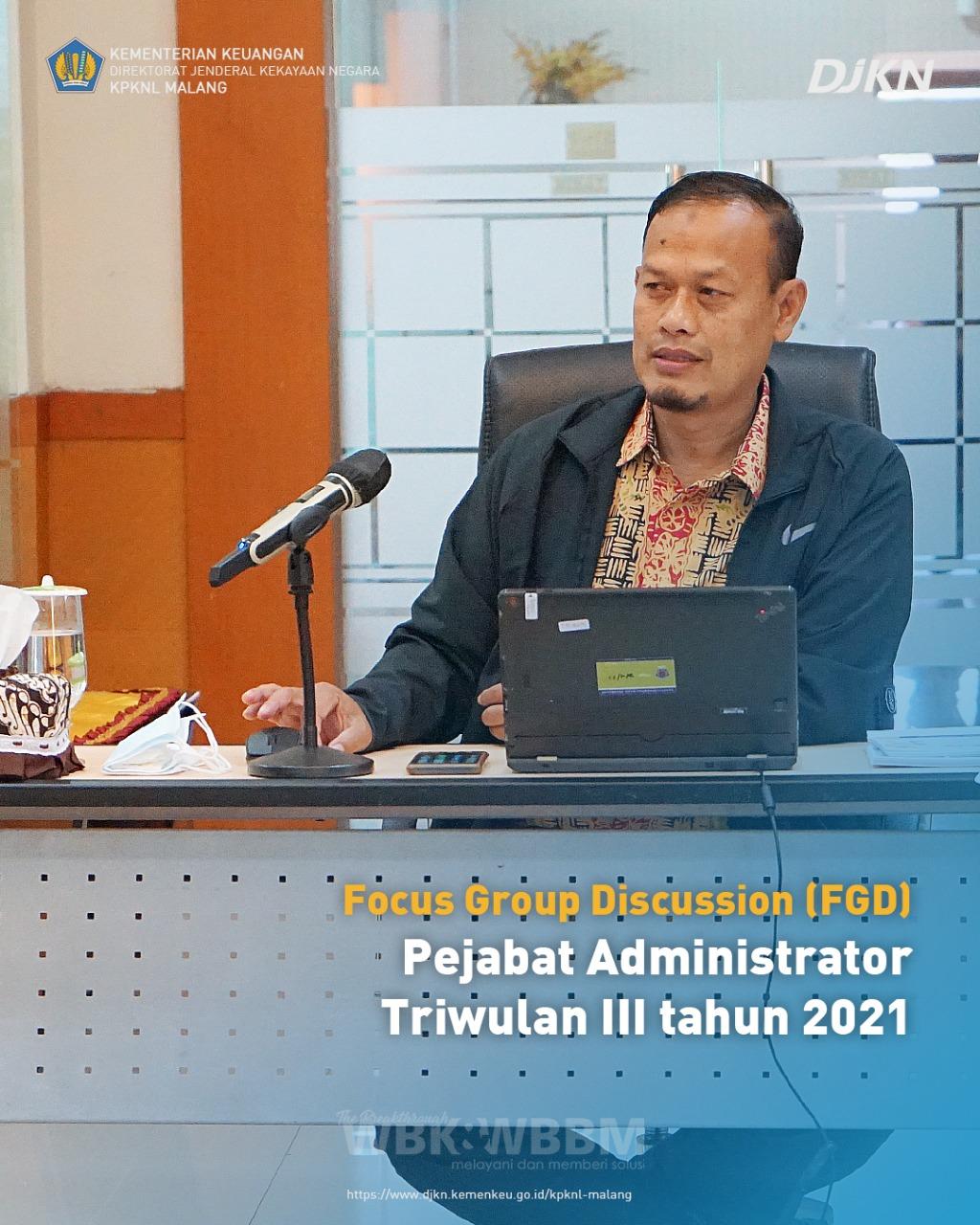 KPKNL Malang menggelar Focus Group Discussion Pejabat Administrator Triwulan III