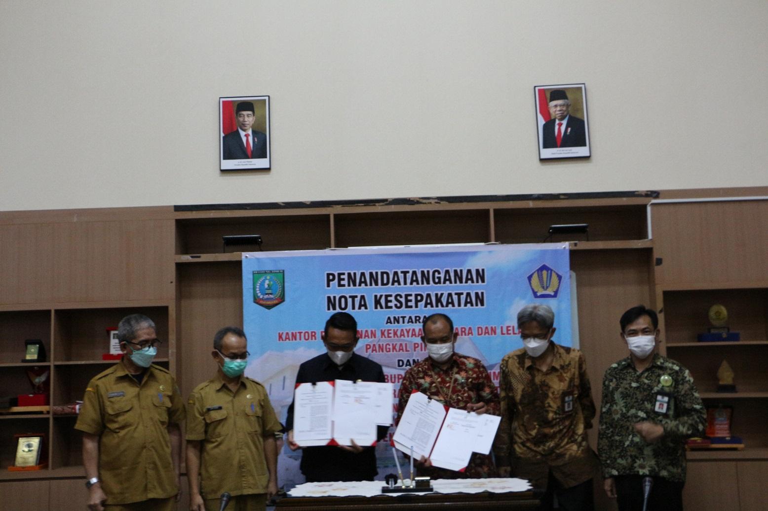 Kuatkan Sinergi, KPKNL Pangkalpinang dan Pemerintah Kabupaten Belitung Timur Lakukan Penandatanganan Nota Kesepakatan