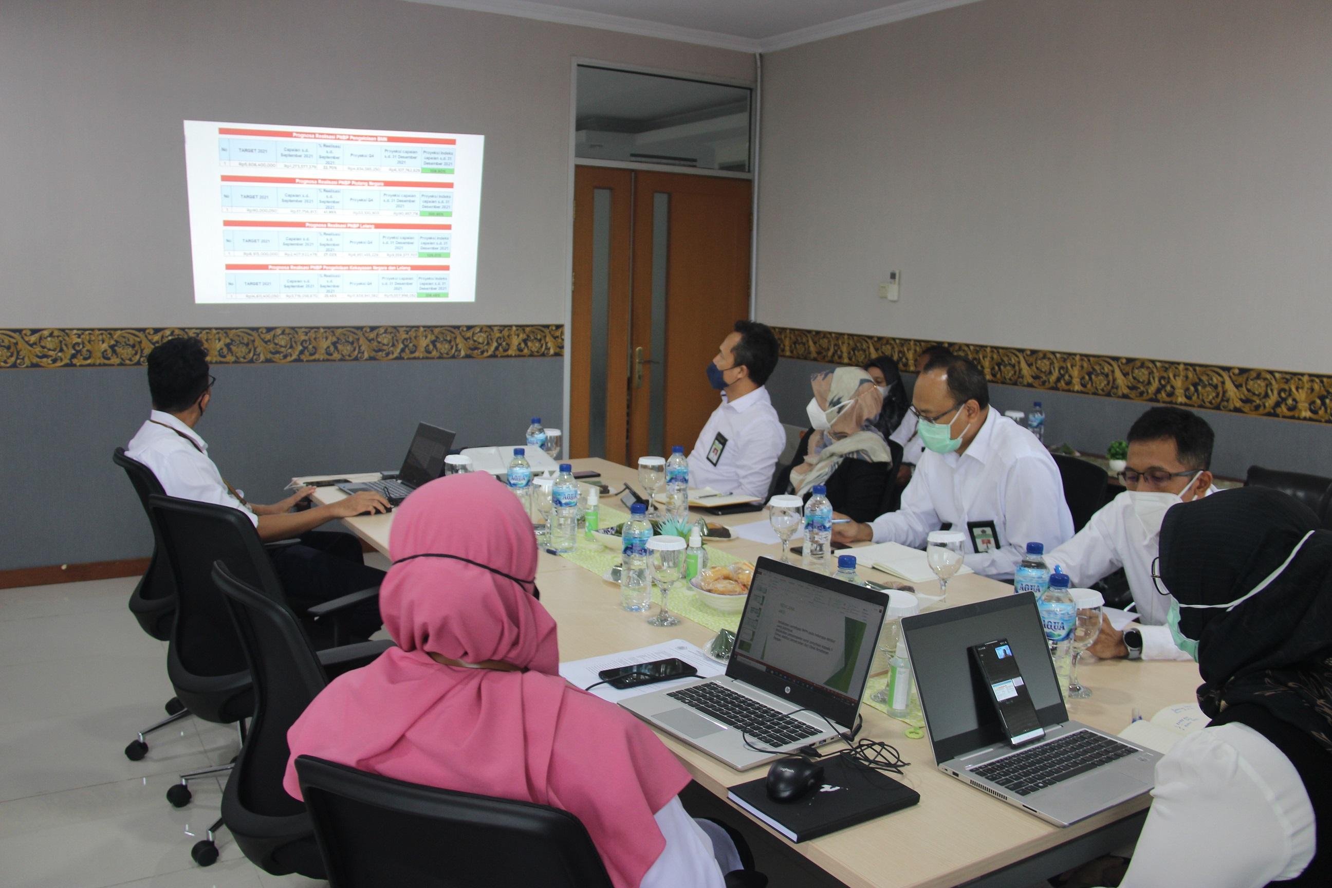 Kejar Capaian Kinerja 2021, KPKNL Serang Laksanakan Monitoring Dan Evaluasi Kinerja