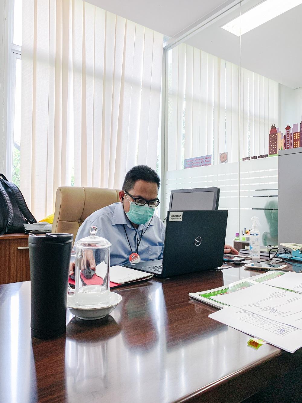 Kepala KPKNL Jakarta II Membahas Mutasi Pelaksana dalm DKO Triwulan II Tahun 2021