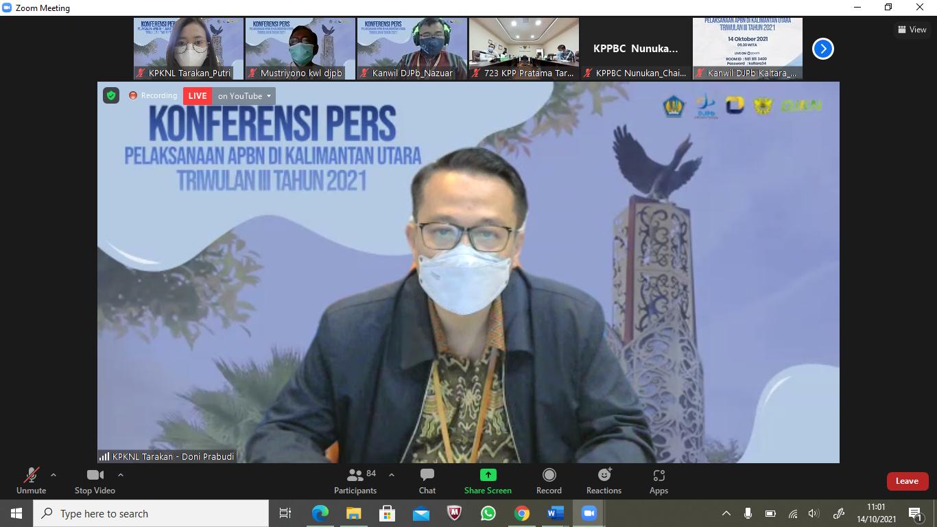 Konferensi Pers APBN di Kalimantan Utara, KPKNL Tarakan Bukukan PNBP Rp8,5 Miliar
