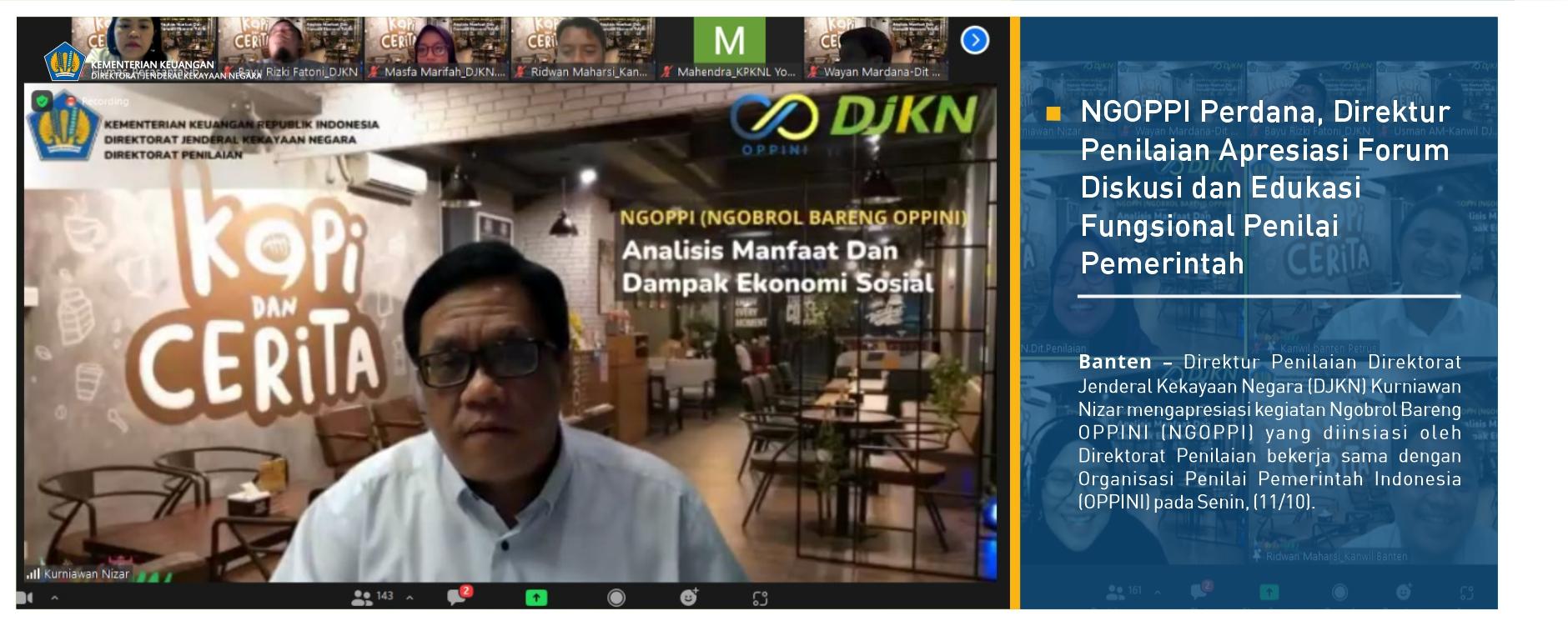 NGOPPI Perdana, Direktur Penilaian Apresiasi Forum Diskusi dan Edukasi Fungsional Penilai Pemerintah