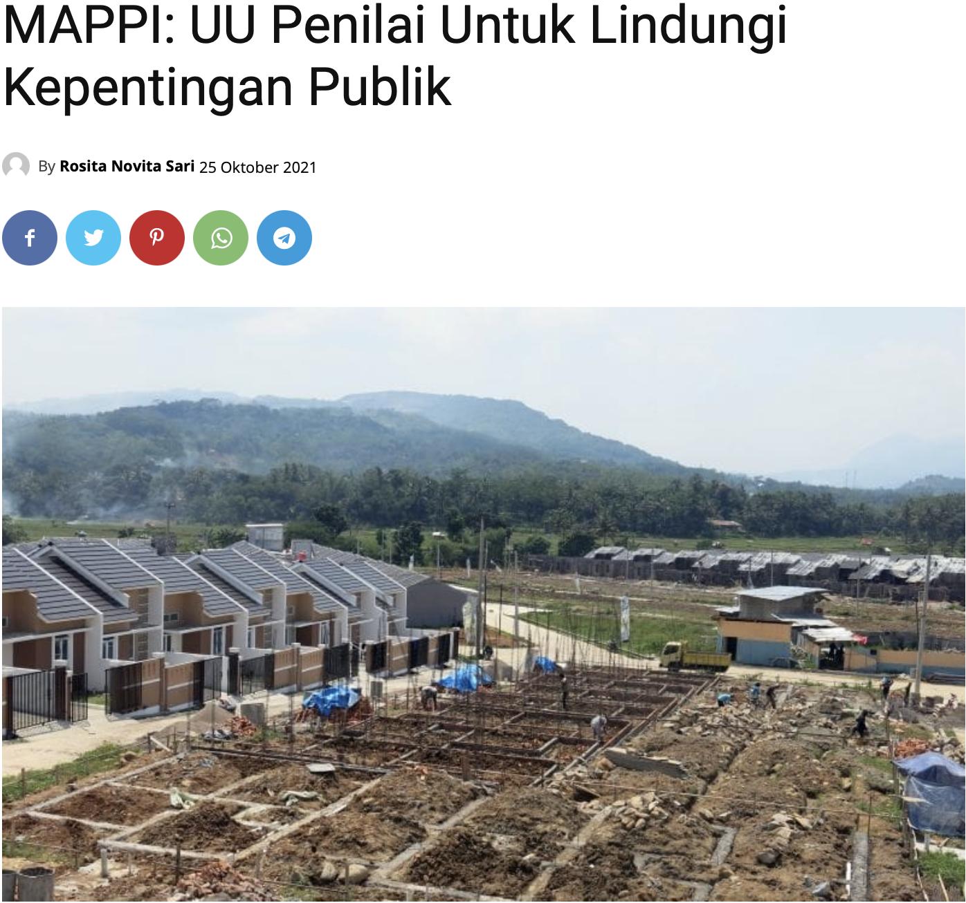 MAPPI: UU Penilai Untuk Lindungi Kepentingan Publik