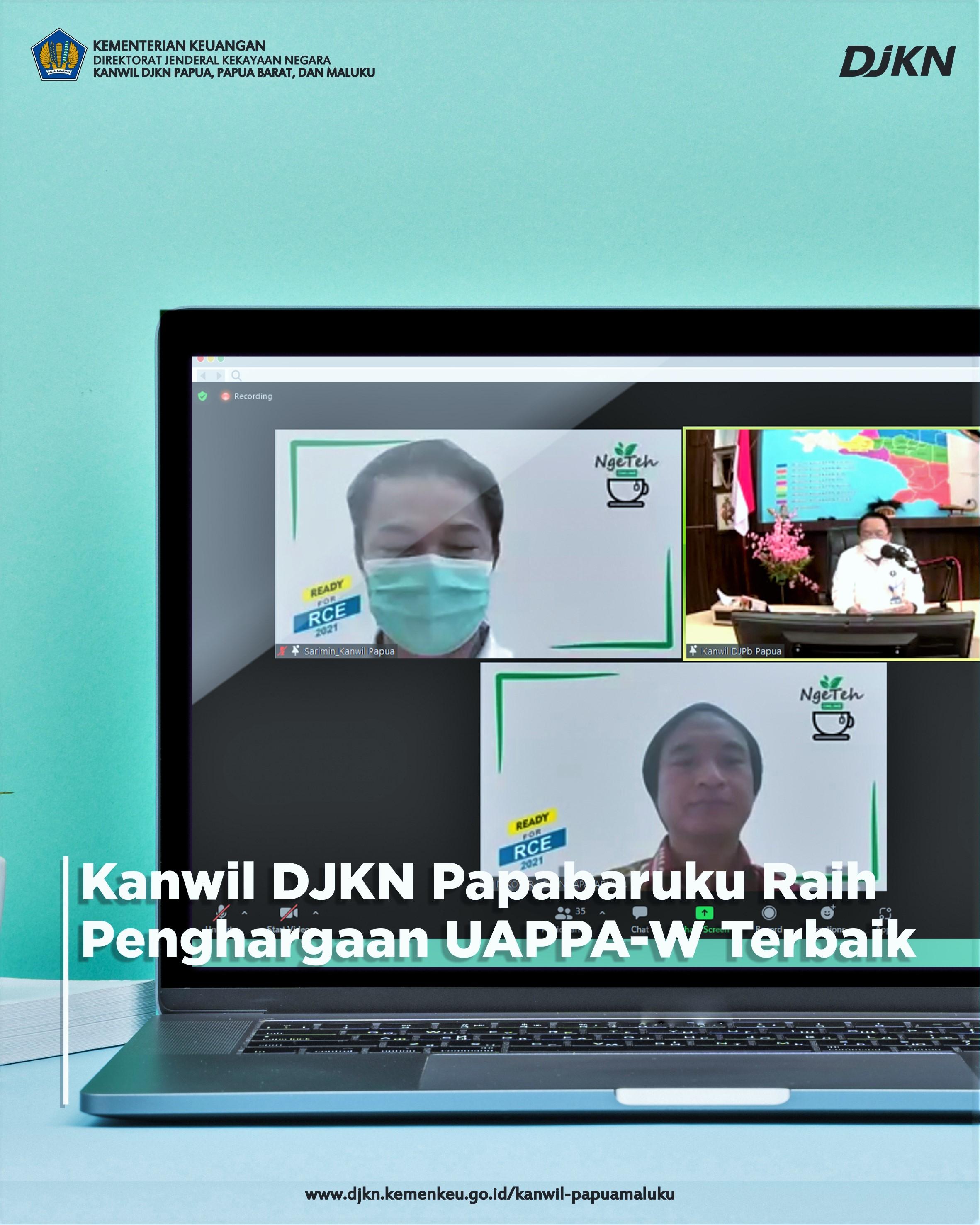 Kanwil DJKN Papabaruku Meraih Penghargaan Sebagai UAPPA-W Terbaik Tahun 2021 Provinsi Papua