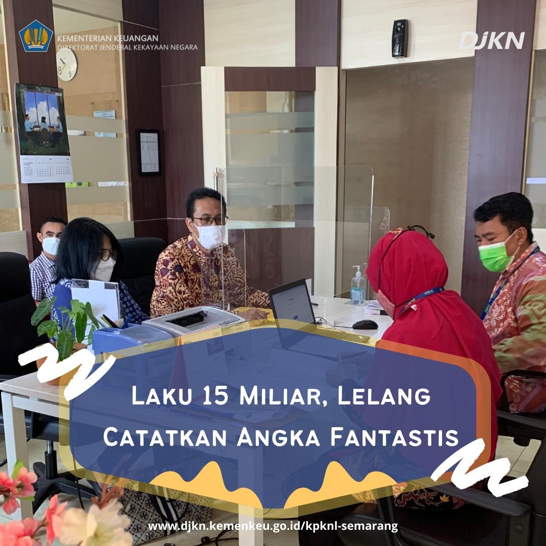 Laku 15 Miliar, KPKNL Semarang Catatkan Angka Fantastis Melalui Lelang