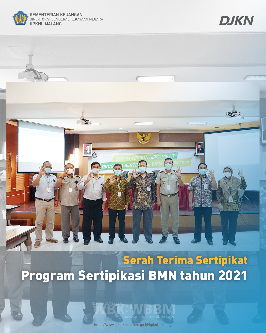 Serah Terima Sertipikat Program Sertipikasi BMN Tahun 2021