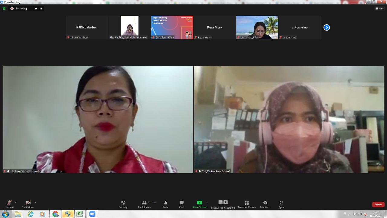 Dharma Wanita KPKNL Ambon mengadakan pertemuan sekaligus seminar secara virtual
