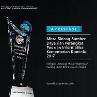 DJKN Terima Penghargaan sebagai Lembaga Mitra Pengelolaan Piutang PNBP Kominfo