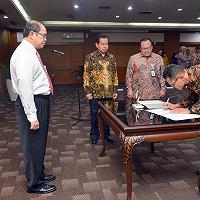 Dirjen Kekayaan Negara Lantik Faaris Pranawa sebagai Direktur PT SMI (Persero)