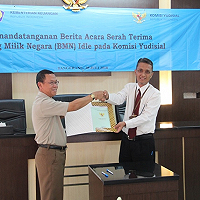 KPKNL Tangerang I Serahkan Aset Idle Ke Komisi Yudisial