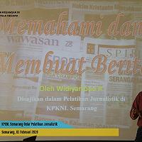 KPKNL Semarang Gelar Pelatihan Jurnalistik