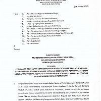 Kementerian PAN & RB Perpanjang WFH ASN hingga 21 April 2020