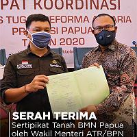 Program Sertipikasi Tanah Kanwil DJKN Papabaruku Lampaui Target