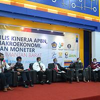 Hadiri Rilis Kinerja APBN Triwulan IV 2020, Kanwil DJKN Kalbar Paparkan Realisasi Pengelolaan Kekayaan Negara