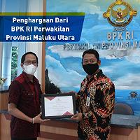 KPKNL Ternate Terima Penghargaan dari BPK RI Perwakilan Provinsi Maluku Utara